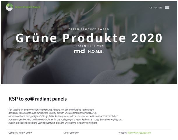KSP to go® für den Green Product Award 2020 nominiert