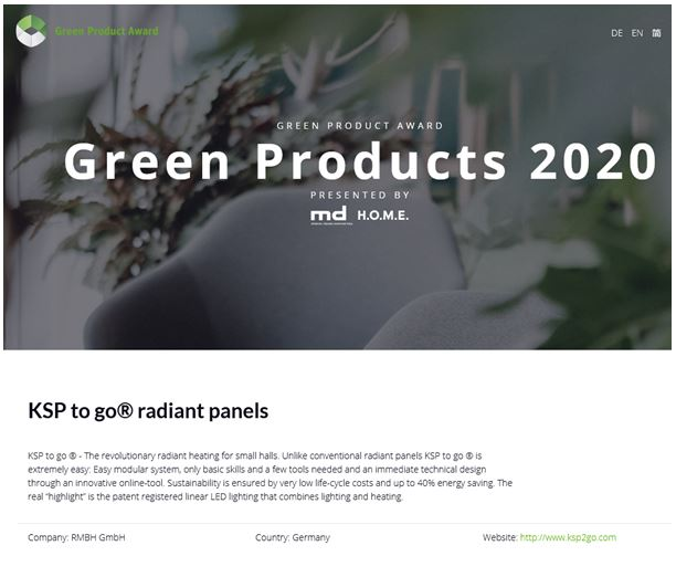 KSP to go® is nominated for the Green Product Award 2020